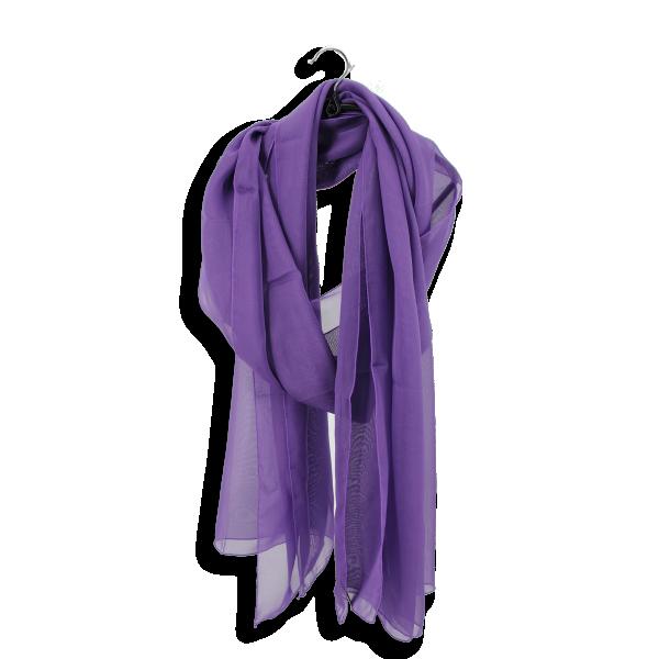 Etole mousseline soie unie fabrique en france violet