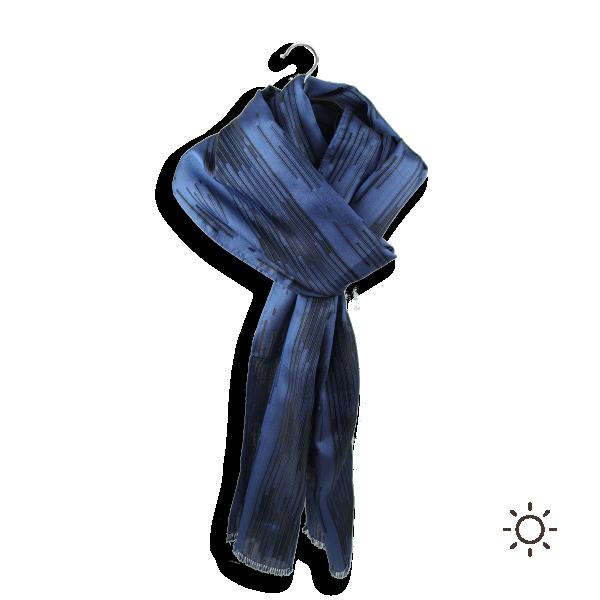 Foulard-homme-vincent-Soie-bleu
