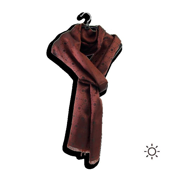 Foulard-homme-soie-roux-marron-denis-1A