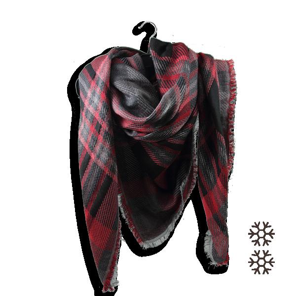 Echarpe-Plaid-femme-frisson-laine-soie-coton-rouge-noir-2A