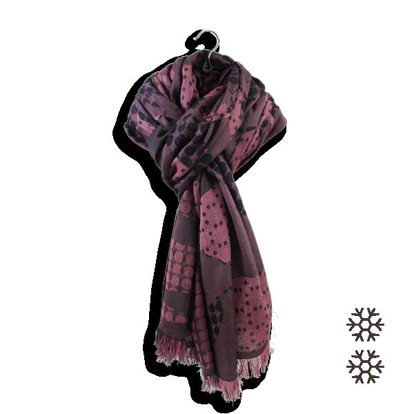 Maxi-etole-femme-laine-soie-coton-rose ancien-Montreal