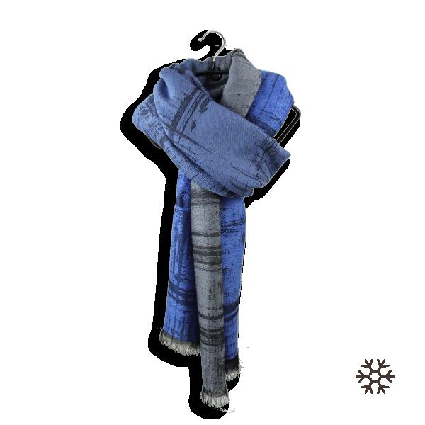 Maxi-étole-homme-laine-mérinos-bleue-Tôle-froissée-3A