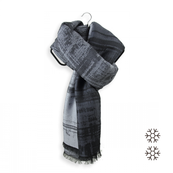 Maxi-étole-homme-laine-mérinos-grise-Tôle-froissée-1A