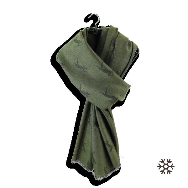 Man-stole-cashmere-cotton-silk-military-green-golfer-1A