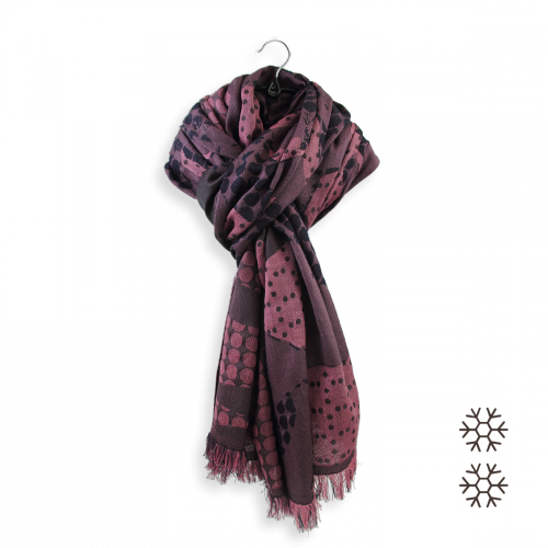 Over size-woman-stole-wool-cotton-silk-old-pink-Montreal