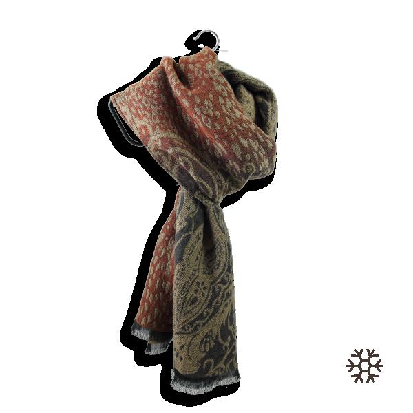 Scarf-women-wool-cotton-cotton-beige-rust-Istanbul-4A