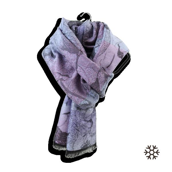 Woman-stole-wool-cotton-silk-pink-lilac-Vienne