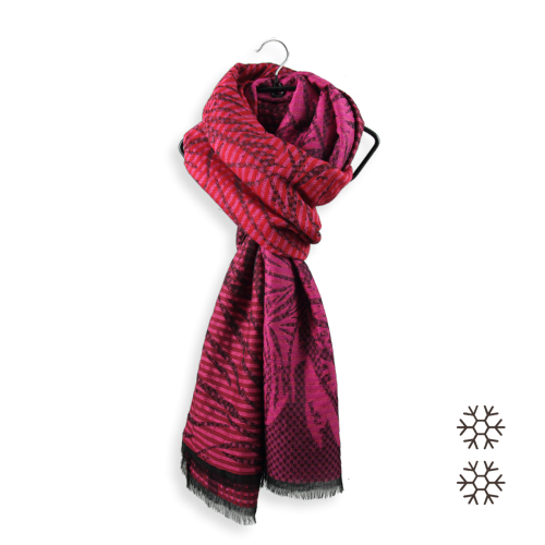 Over size-woman-stole-wool-modal-cotton-silk-red-pink-Valparaiso-3A