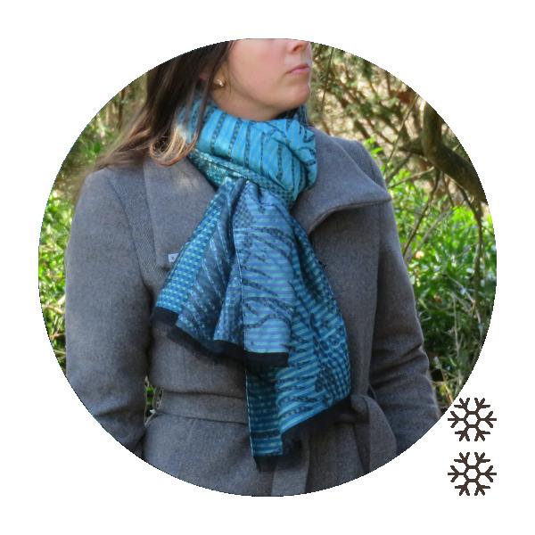 Woman-oversize-stole-wool-modal-cotton-silk-turquoise-Valparaiso-1A