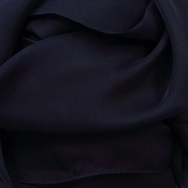 Stole-scarf-silk-chiffon woman Navy-11A