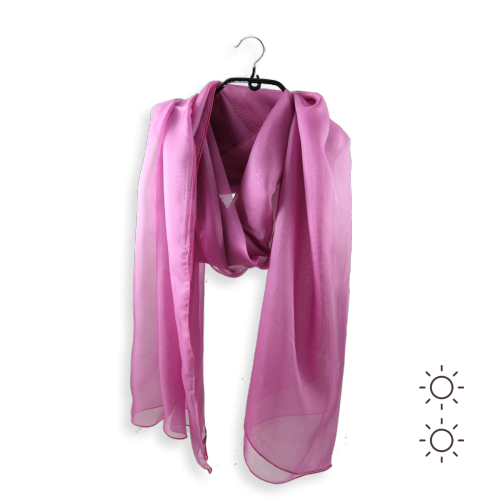 Silk chiffon stole made in France pink parma