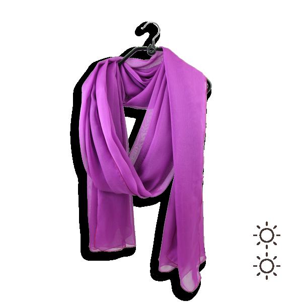 stole-woman-mousseline-plain-silk-pink-hortensia