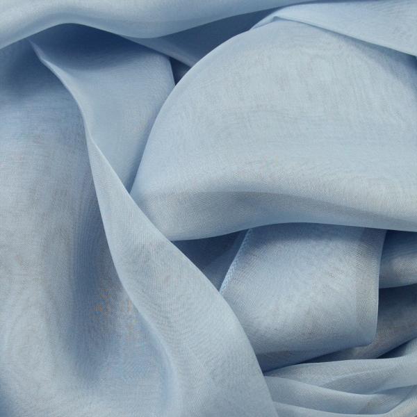 Silk chiffon stole made in France blue sky