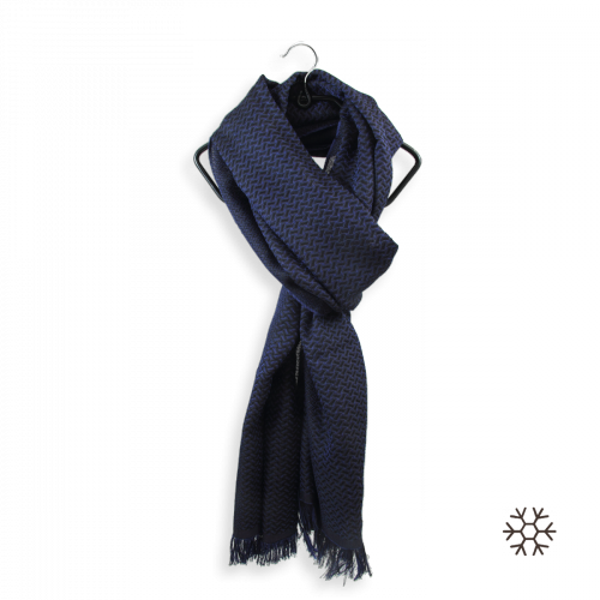 Scarf-man-cashmere-silk-blue-Thales