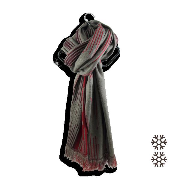 Man-stole-merino-wool-modal-brown-red-Néon-5A