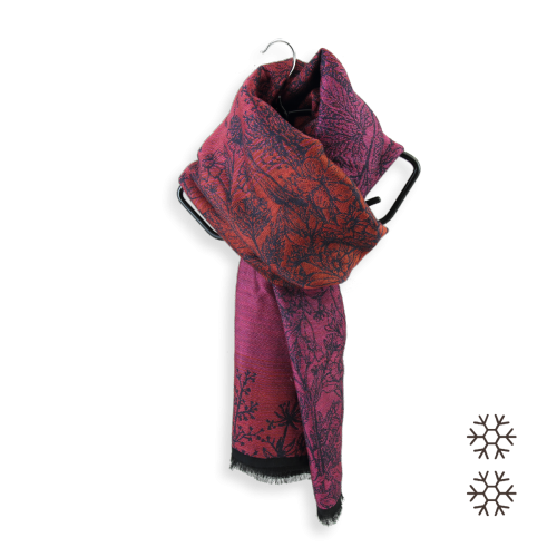 Woman-maxi-stole-wool-moadal-cotton-silk-red-pink-1A