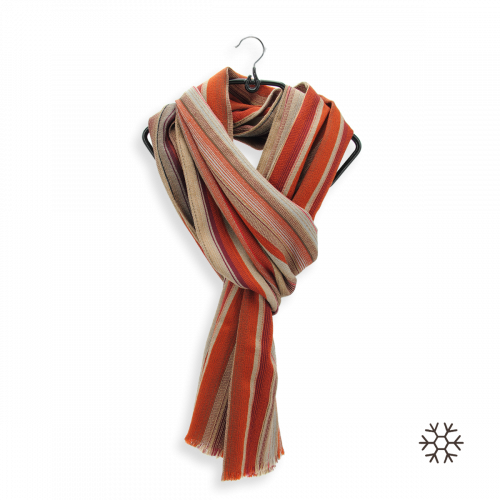 SCARF MERINO WOOL SILK CARTHAGE RUST