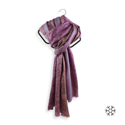 Scarf-woman-tendresse-wool-silk-purple-violet