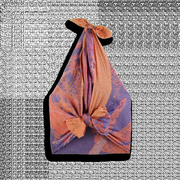 shiki bag abi cotton silk purple orange