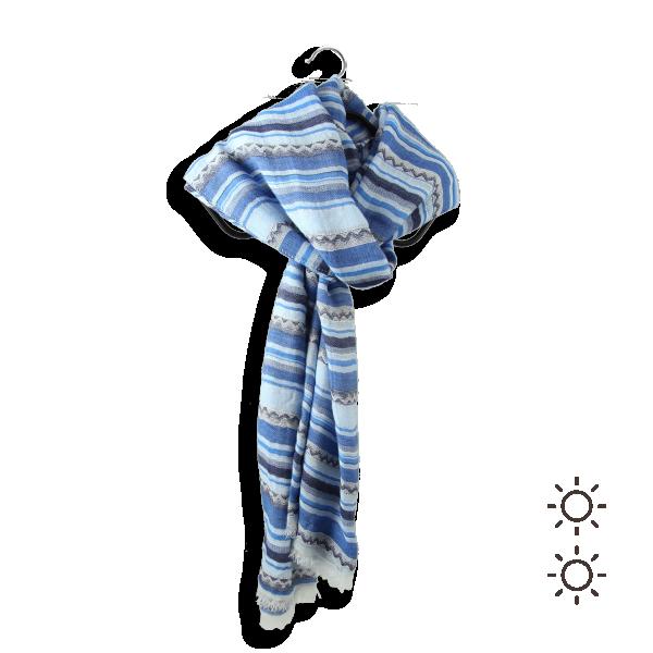 Cotton silk woman cheche blue 3A