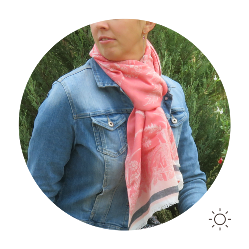 Woman-stole-cotton-modal-silk-coral-pink-Astrance-4A
