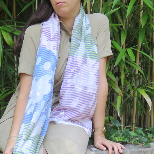 Woman-scarf-silk-coton-modal-Ephese-purple-blue-1A