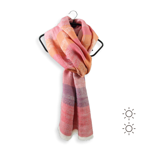 Woman-stole-cotton-modal-silk-Heracles-pink-coral-1A