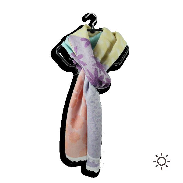 Cotton modal silk women stole jeannette multicolored