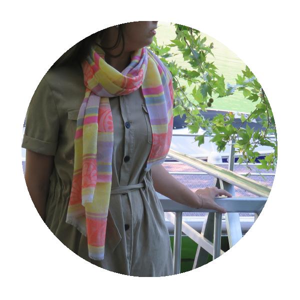 Woman-stole-cotton-modal-silk-Nereide-yellow-1A