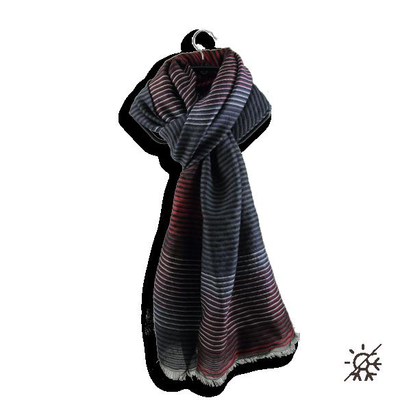 Stole-woman-polaris-wool-silk-cotton black-red