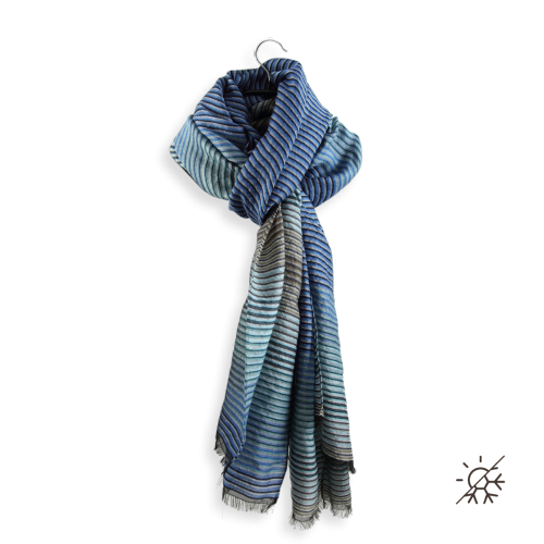 Stole-woman-polaris-wool-silk-cotton blue sky