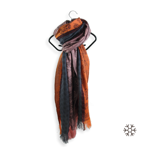 stole-woman-idylle-merino-wool-modal-grey-orange-3A