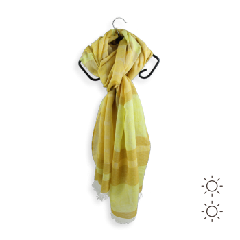 COTTON LINEN CHECHE FREGATE YELLOW
