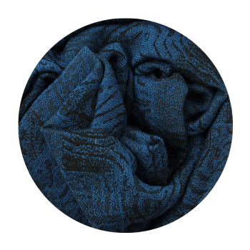 COTTON MERINO WOOL STOLE BAGAN BLUE DUCK