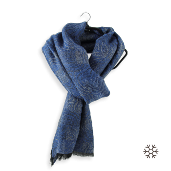 COTTON MERINO WOOL STOLE BAGAN BLUE JEANS
