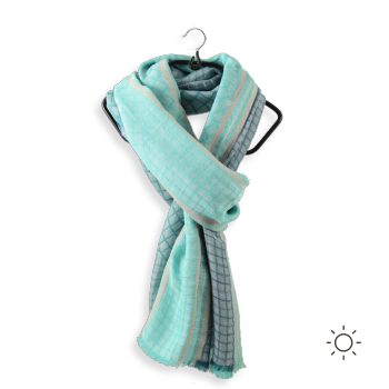 COTTON MODAL SCARF FRANKLIN GREEN