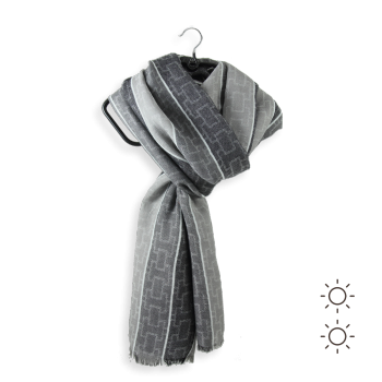 COTTON MODAL SCARF LINCOLN GRAY