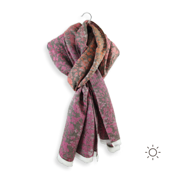 COTTON MODAL SILK STOLE BACOPA PINK