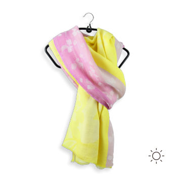 COTTON MODAL STOLE LINNEN YELLOW