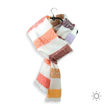 COTTON SILK SCARF SKIN ORANGE