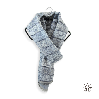 COTTON SILK STOLE ARES GRAY