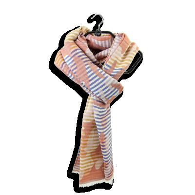 ECHARPE COTON MODAL SOIE EPHESE ROUILLE MARINE petit modèle