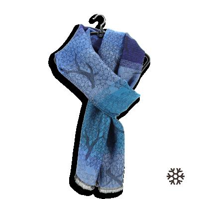 MERINO WOOL MODAL STOLE OLIVIER BLUE