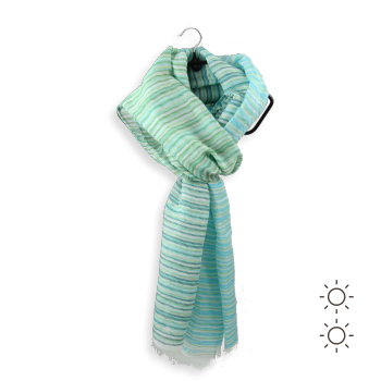 MODAL COTTON SILK STOLE RIZIERE TURQUOISE