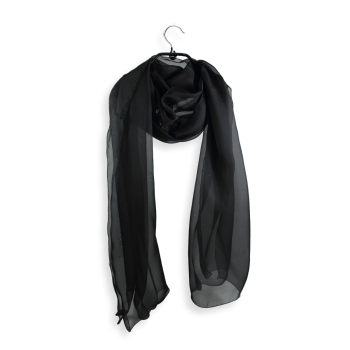 PLAIN SILK STOLE BLACK