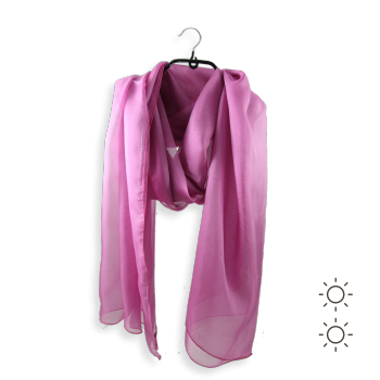PLAIN SILK STOLE ORCHID PINK