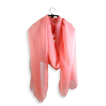 PLAIN SILK STOLE PINK PEACH