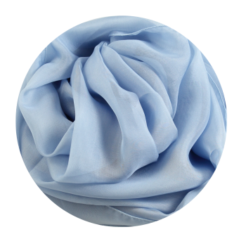 PLAIN SILK STOLE SKY BLUE