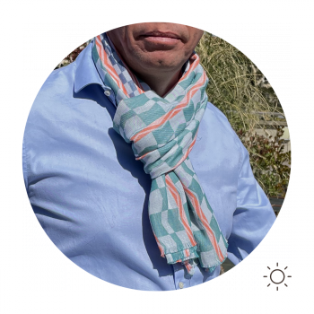 SCARF COTTON MODAL HESTIA GREEN