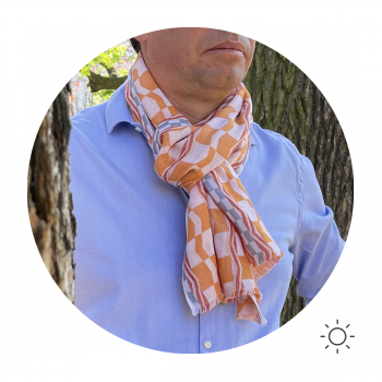 SCARF COTTON MODAL HESTIA ORANGE